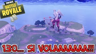 FLYING WITH THE TROLLEY.... And I'm ON THE TIME!!! BUG CARRELLO FORTNITE!!!