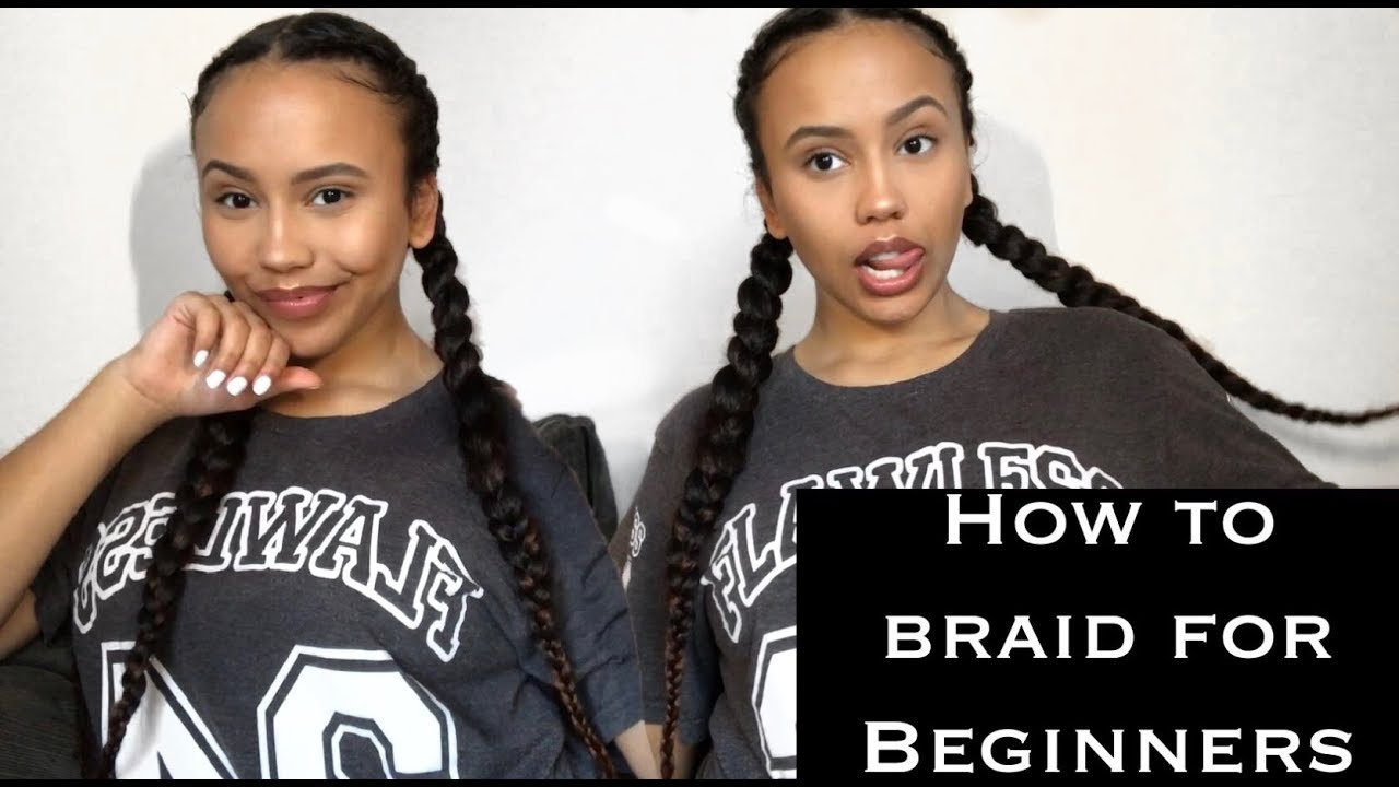 How to Braid Your Own Hair (Feed-in and Regular)   Beginner Friendly   Detri