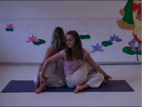 sitting spinal twist  yoga partner asana  youtube