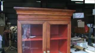 Tulip Hutch Cabinet Oak Vintage