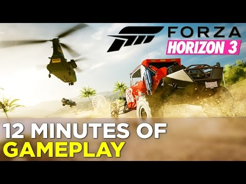 First 12 Minutes of FORZA HORIZON 3 Gameplay: Black Lamborghini, Helicopters, & Hot Air Balloons! thumbnail
