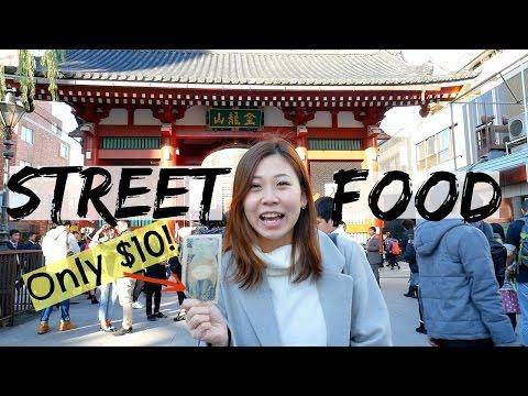 $10 Japanese Street Food Adventure In Asakusa: Tokyo Street Food Guide | 1000円で楽しめる浅草の食べ歩きグルメ