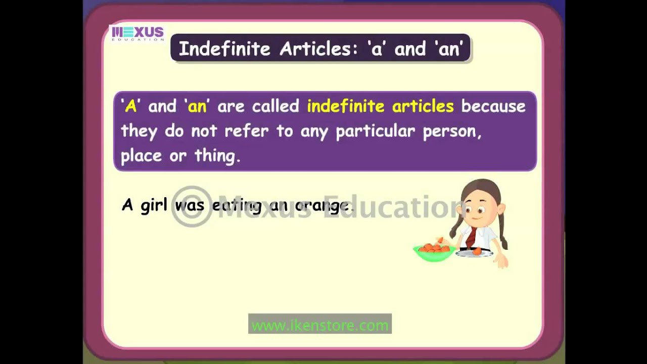 Indefinite article in English: rules of use, examples 52