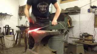 Blacksmith doing the drawing out challenge