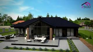 Проект одноэтажного дома с гаражом Z406 от Z500