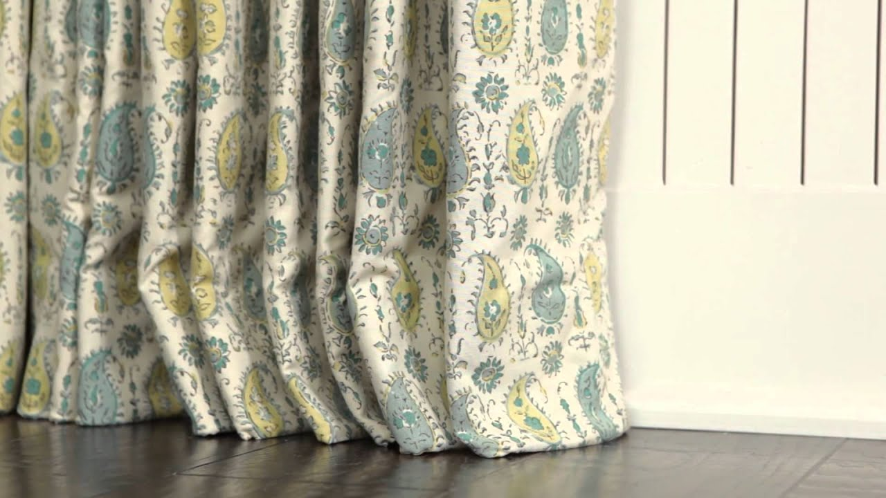How to puddle curtains southern living youtube for Southern living login