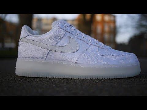 c868e729802d2 Clot x Nike Air Force 1 Premium Quick Look & On Feet (White Silk) - YouTube