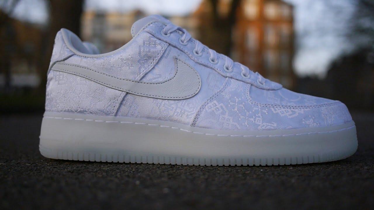 size 40 59615 c4737 Clot x Nike Air Force 1 Premium Quick Look   On Feet (White Silk)
