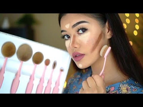 OVAL MAKEUP BRUSHES REVIEW + how to use oval makeup brushes tutorial