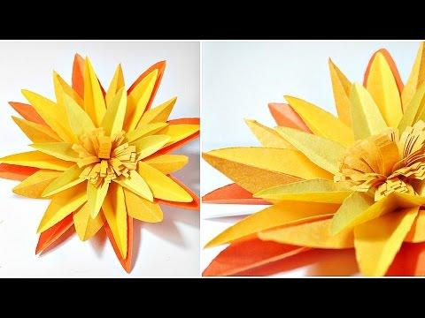 Origami marigold flower& DIY 3D marigold paper flowers making tutorial easy for kids,for beginners