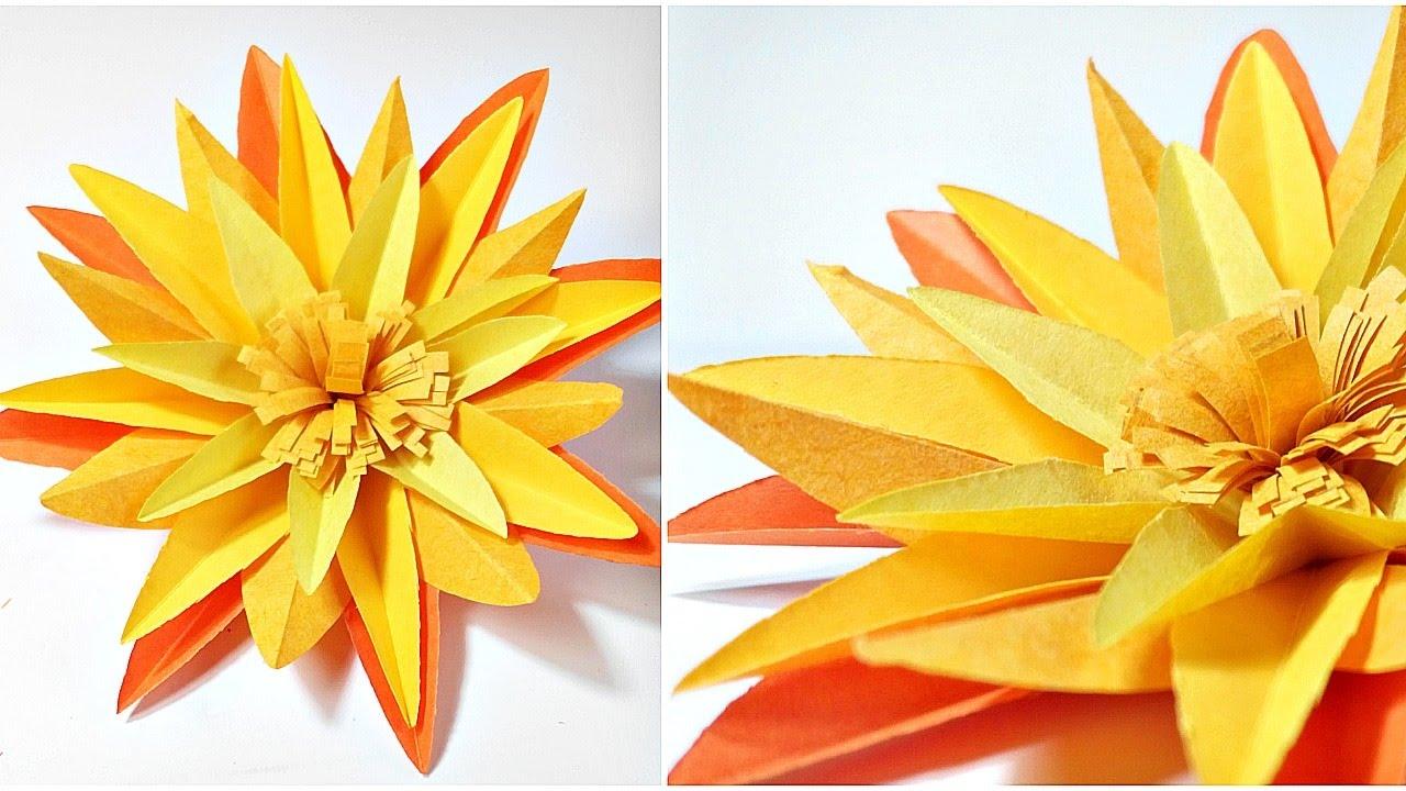 Origami Marigold Flower Diy 3d Marigold Paper Flowers Making Tutorial Easy For Kids For Beginners