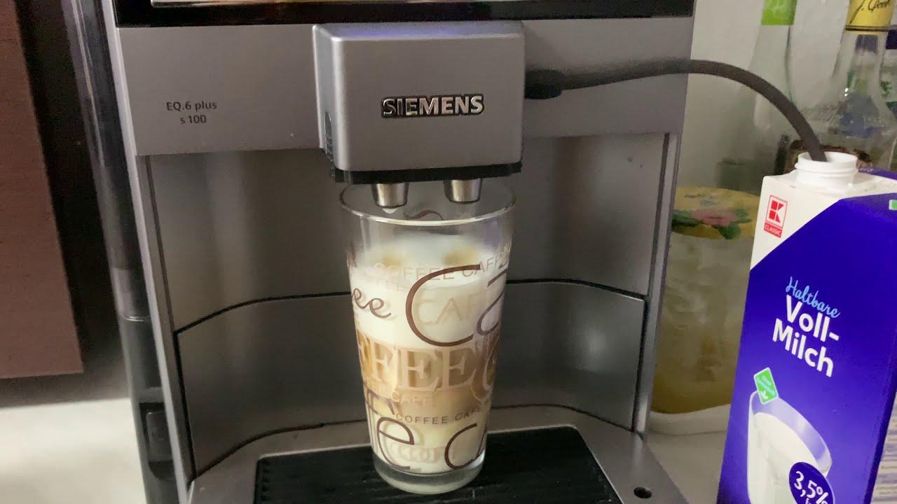 Siemens Eq 6 Plus S100 Test Siemens Eq Kaffeevollautomat Latte Macchiato Youtube