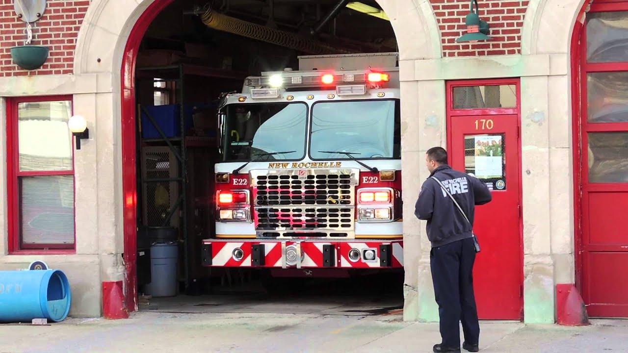 New Rochelle FD NEW Engine 22 Responding  YouTube