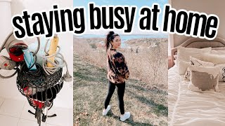 VLOG: things to do at home! DIY easy tie dye, baking, organizing my room