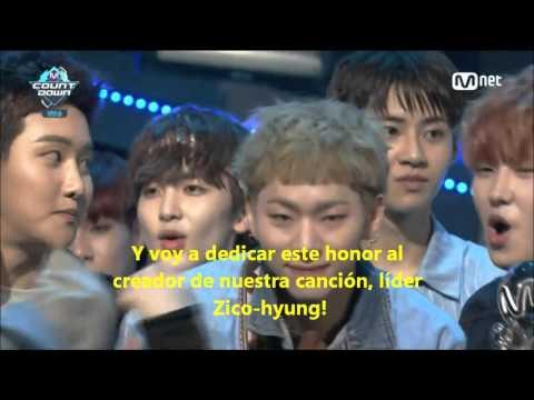 [Sub Español] 160421 M!Countdown Block B - Toy Second Win