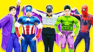 슈퍼히어로 아이언맨 베트맨 캡틴아메리카 스파이더맨 캐릭터 소개 Superheroes Costume Runway show | 말이야와아이들 MariAndKids
