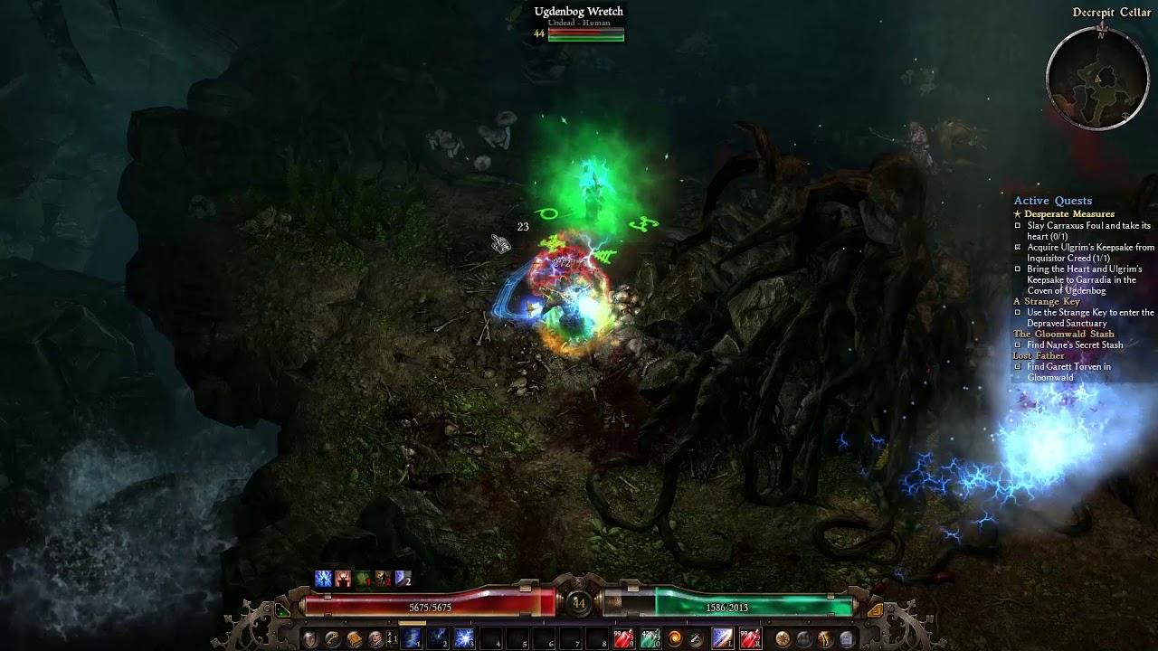 Grim Dawn | AoM | Decrepit Cellar run with Druid
