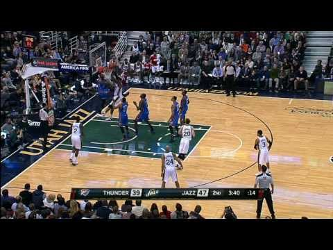 Derrick Favors Reigns Down on Kevin Durant