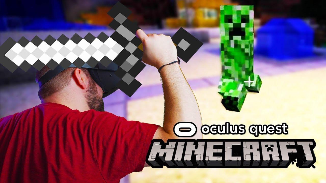 Oculus Quest Minecraft VR Gameplay  Virtual Desktop Vivecraft Streaming