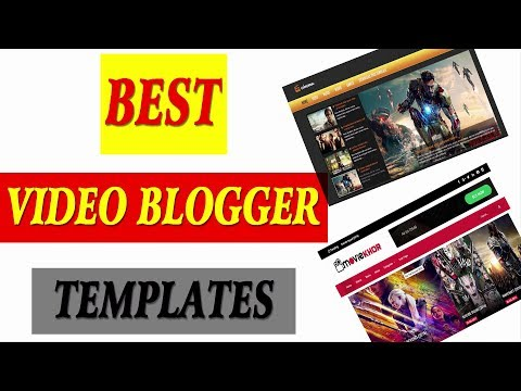 Top Best Blogger Templates for Youtube like video Sites