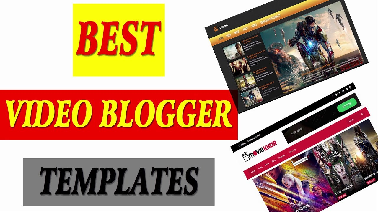 Top Best Blogger Templates For Youtube Like Video Sites Youtube