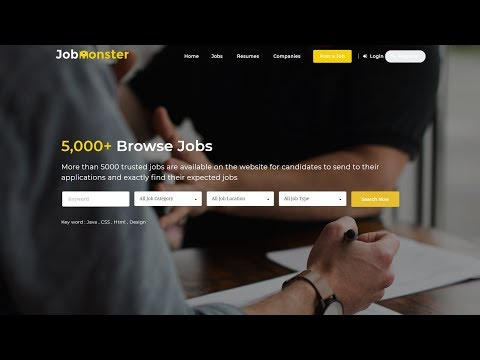 How to Make Job Portal & Job Board Website with WordPress & JobMonster 2018 – Like Indeed & Monster