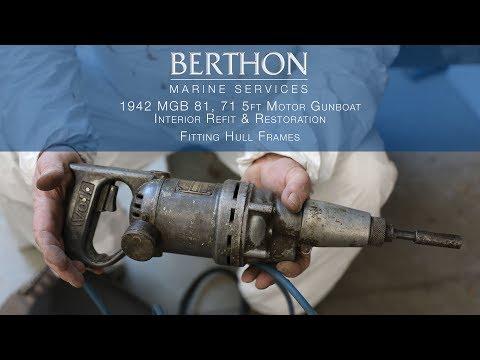 Fitting Hull Frames  - 1942 MGB 81, 71.5ft Motor Gunboat  - Part 2/5