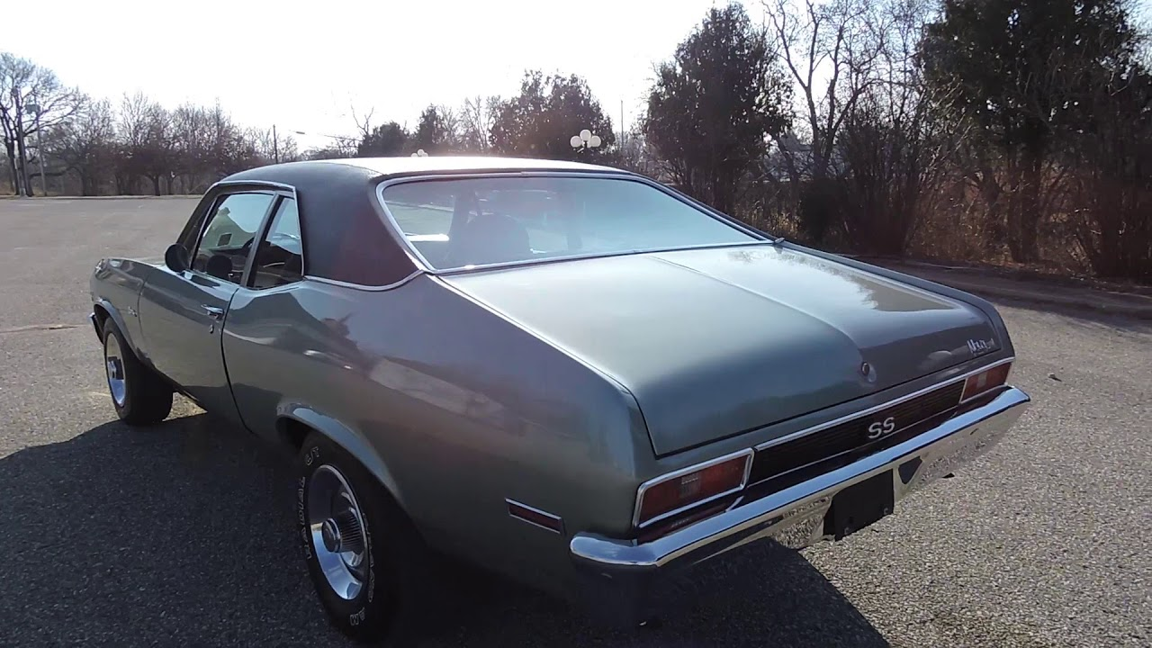 1972 Chevy nova ss silver for sale at www coyoteclassics com