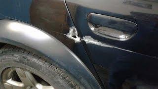 Audi. Мелкий ремонт рваной раны. БЫЛО-СТАЛО.