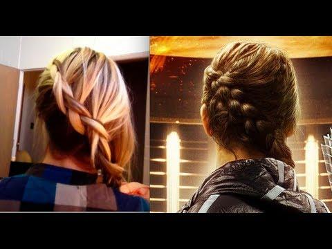 The Hunger Games - Braided hair - Katniss braid - YouTube