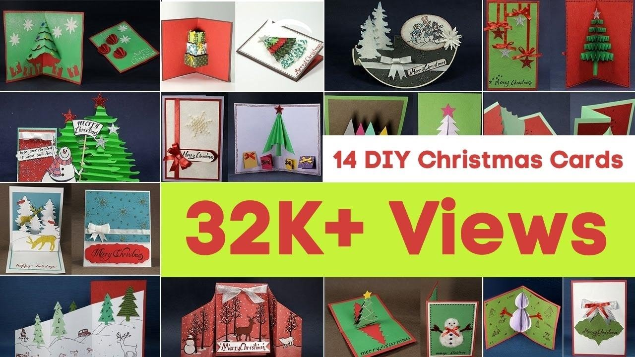 handmade christmas card ideas 14 diy christmas cards to make for best holiday greetings youtube - Christmas Photo Cards Ideas