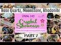 Crystal Showcase #7/10 Rose Quartz, Black Moonstone, Rhodonite