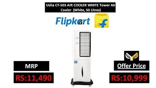 Usha CT-503 AIR COOLER WHITE Tower Air Cooler (White, 50 Litres)