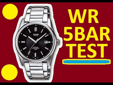 Water Resistant 5 Bar Casio Beside Bem 111d Watches Test At Home You