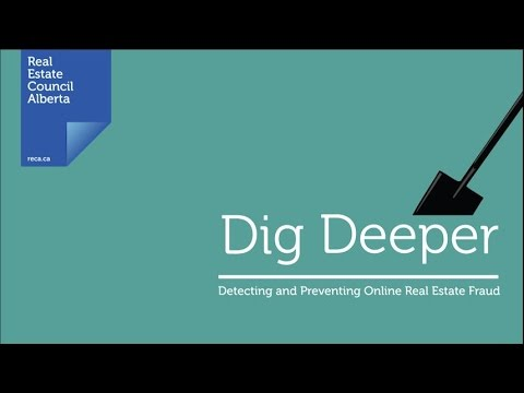 Dig deeper protect yourself from online real estate fraud youtube dig deeper protect yourself from online real estate fraud reca alberta solutioingenieria Choice Image