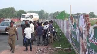 Air India flight hits wall at Trichy airport