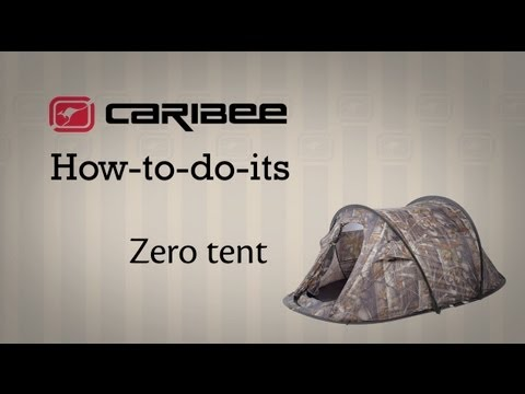 How-to-do-it The Caribee Zero 2 tent - Set up and pack away & How-to-do-it: The Caribee Zero 2 tent - Set up and pack away - YouTube