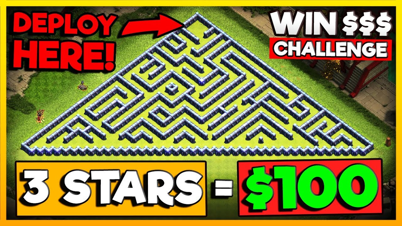 First to 3-Star THIS Wins $100 - Clash of Clans Challenge