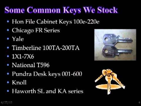 Hon Key Replacement Hon File Cabinet Keys  YouTube