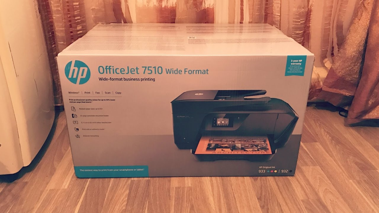 hp officejet 7510 wide format all-in-one printer HP OfficeJet 7510 All-in-One Wireless Printer - Unboxing [4K] - YouTube