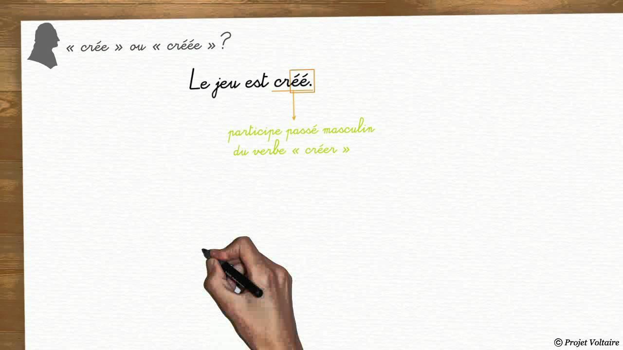 Dois Je Cree Ou Creee Les Astuces De La Grammaire