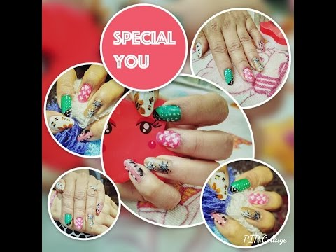 Quick & Easy Nail Art using toothpick!! 5 Designs for Beginners!! 5min Art!!!