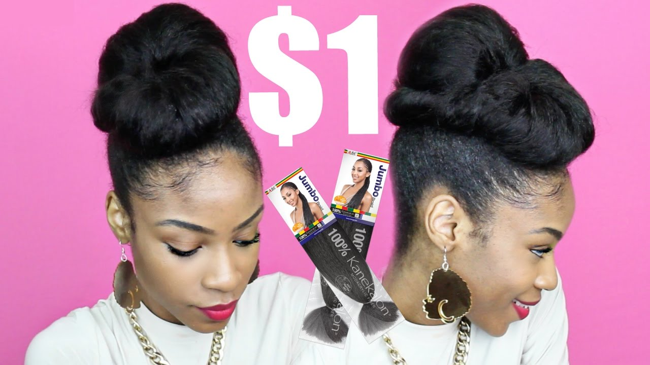 Protective Styles With Kanekalon Hair Twisted Updo YouTube