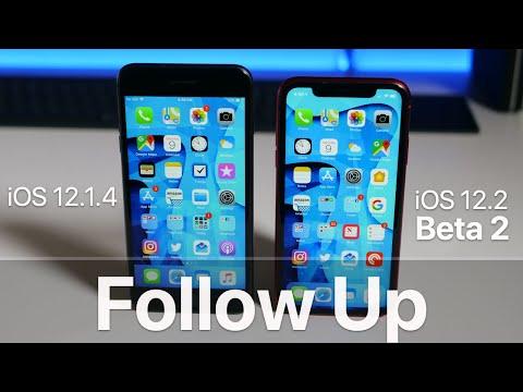 iOS 12.1.4 and iOS 12.2 Beta 2