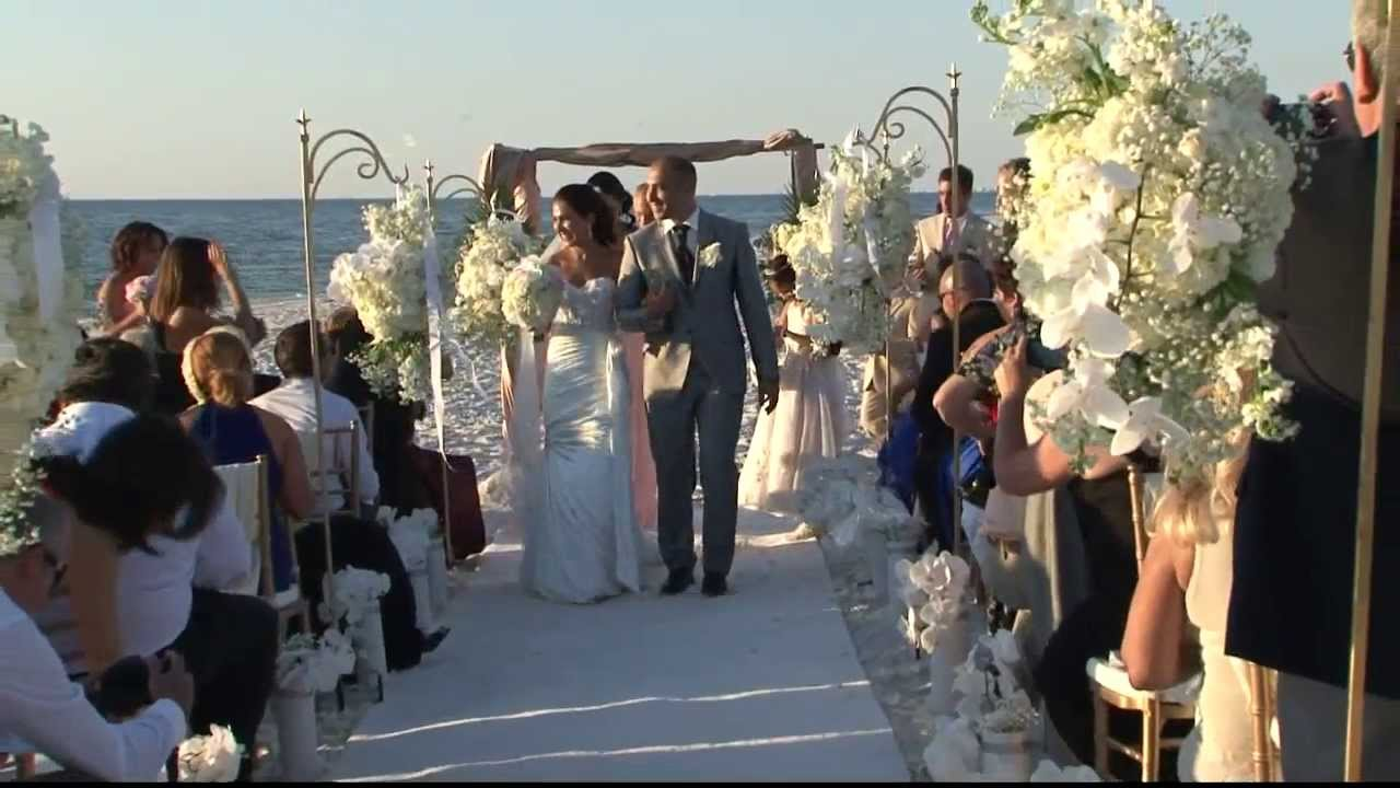 Beach Wedding Video Waldorf Astoria Naples Florida