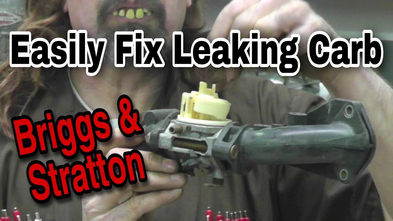 How To Fix A Leaking Briggs Carburetor