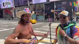 The Naked Cowboy, 5th Ave & Central Park