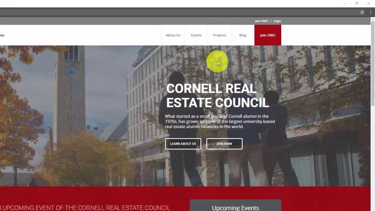 How to Register for CREC - The Cornell Real Estate Council