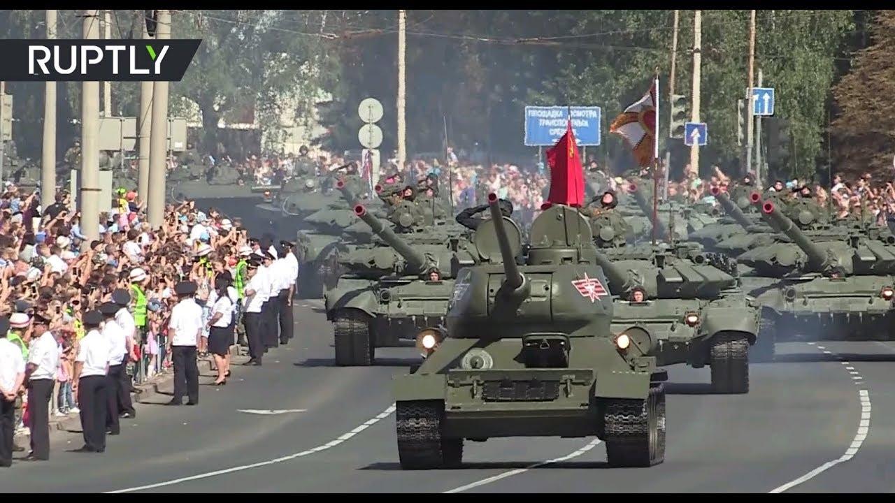 Военный парад в честь 75-летия победы на Курской дуге