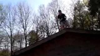 Stephan jonge dansen op dak